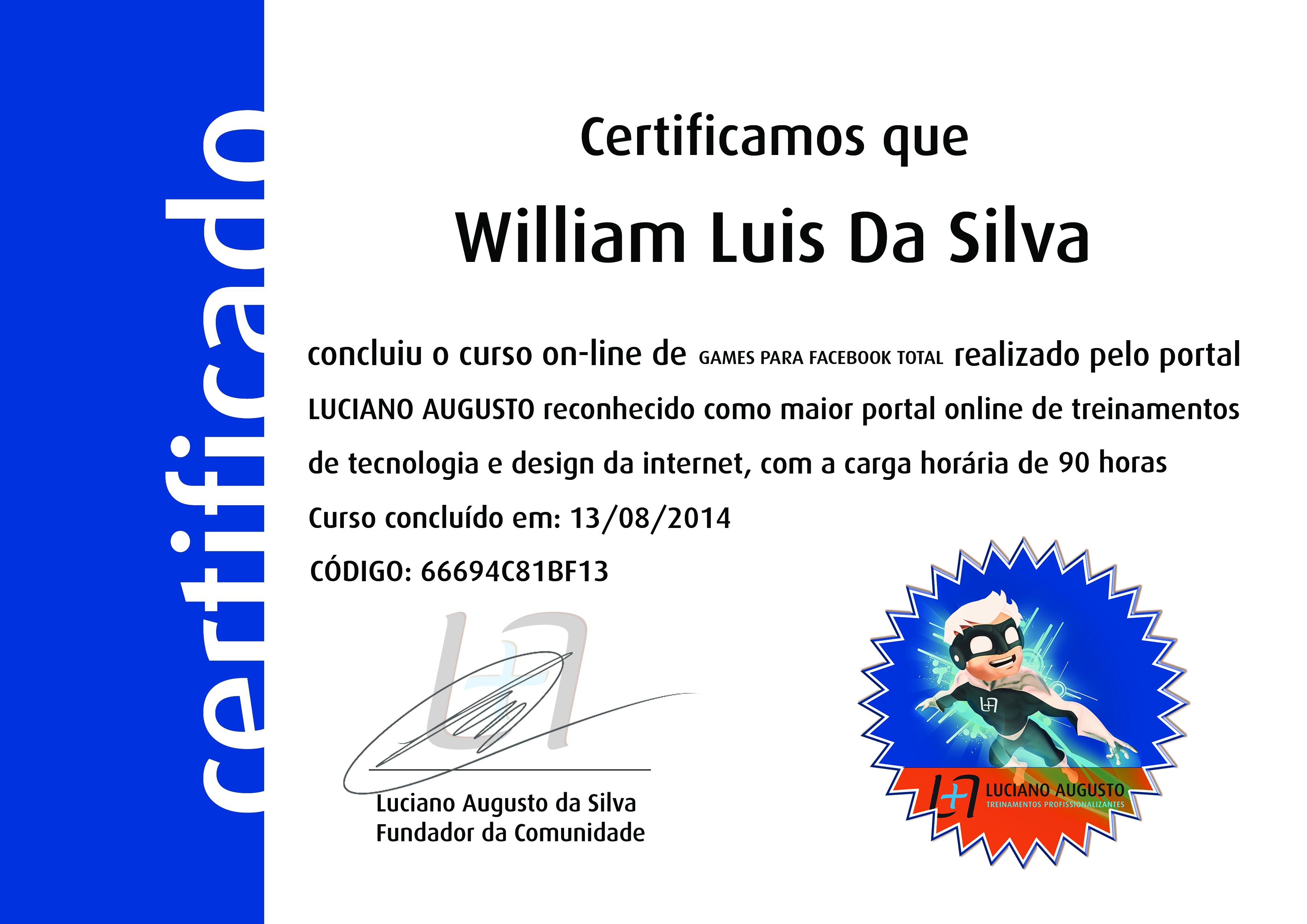 William Luis - Games Facebook